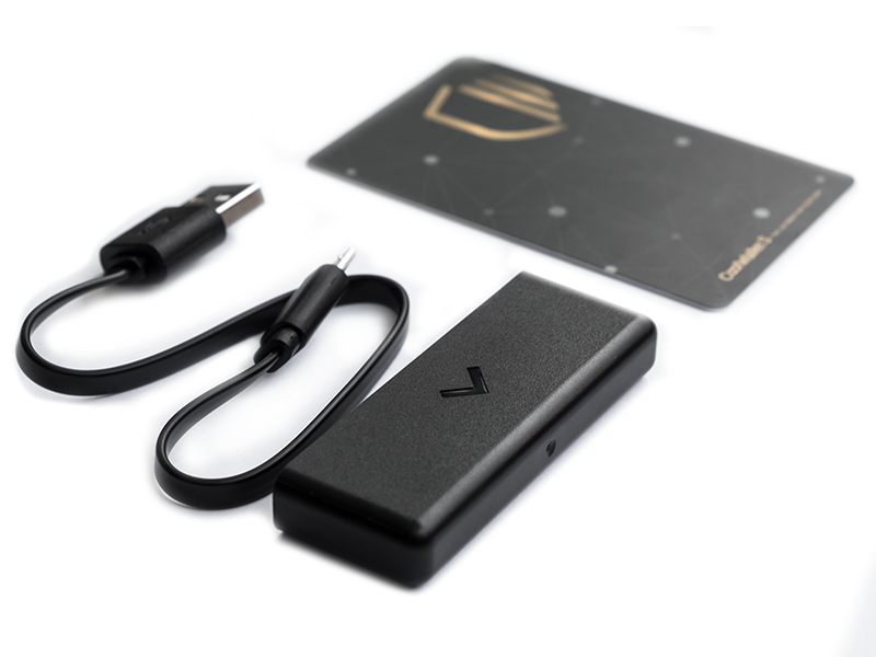 A picture of the CoolWallet S Charging System