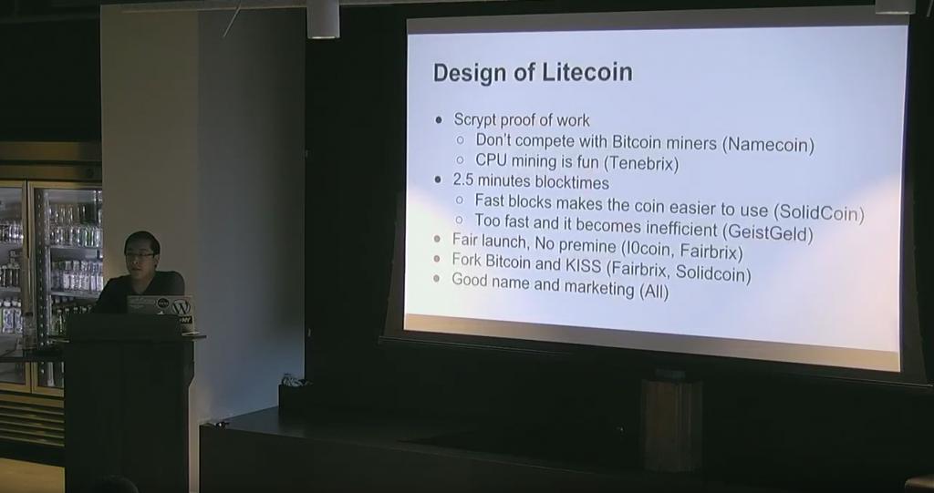Charlie Lee Presenting at Coinbase in San Francisco