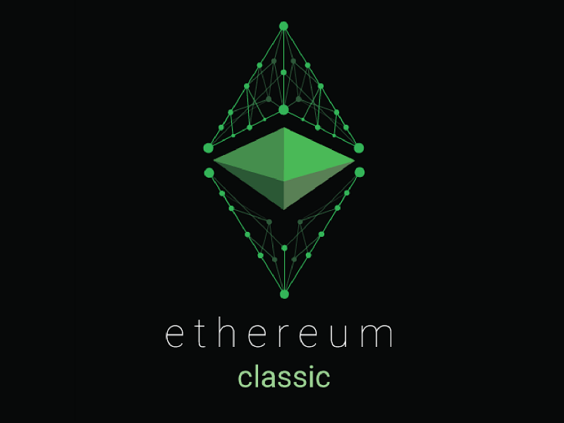 A logo of Ethereum classic