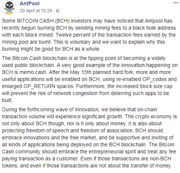 AntPool Explains Their Stance on Bitcoin Cash