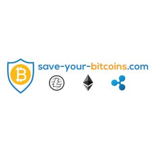 The logo for save-your-bitcoin.com, a Europe retailer