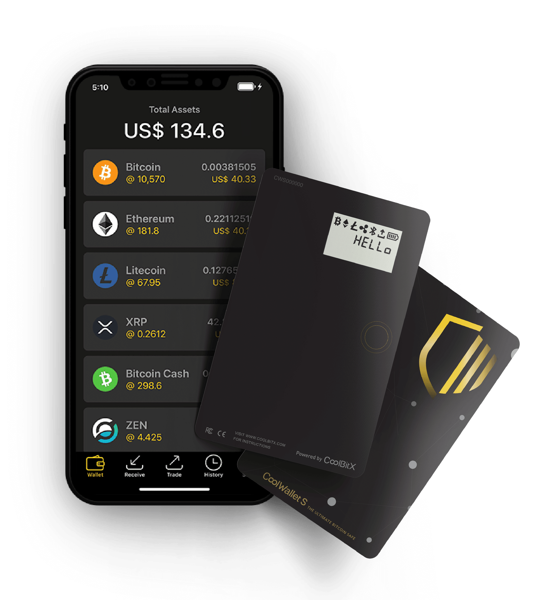 CoolWalletS and APP