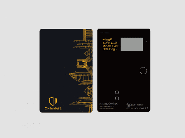 CoolWallet S Co-branded card with Middle East